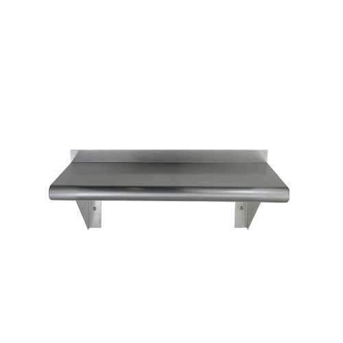 Stainless Steel Wall Mount Shelf 18 x 72 - NSF - Heavy Duty