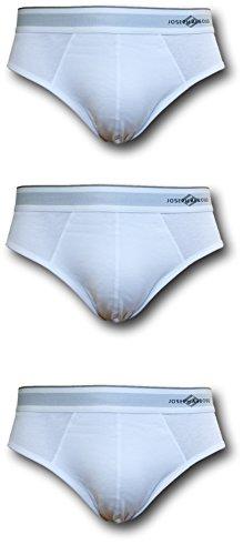 42 Bright White Flat - Joseph Abboud Men's 3 Pack Hip Briefs (White, XL ( 40-42))