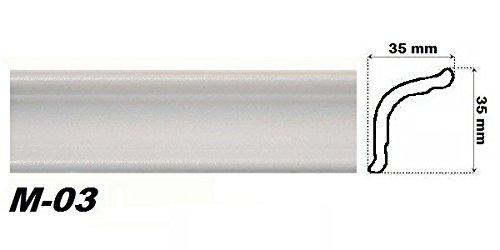 10 Meter Eckprofile Polystyrolleisten Deckenleisten Dekor Stuck 35x35mm M-03
