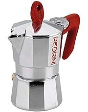 Pedrini P9081 Espresso Coffee Maker, 1 Cup, 50 ml - Silver