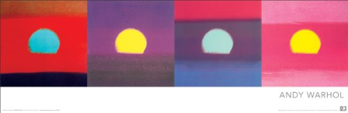 Andy Warhol Sunsets Pop Art Poster Print 12x36 by Culturenik