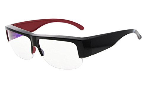 Eyekepper Anti-Blue Light Blocking Computer Glasses,Fit Over Readers and Prescription Glasses with Yellow Tinted Lenses