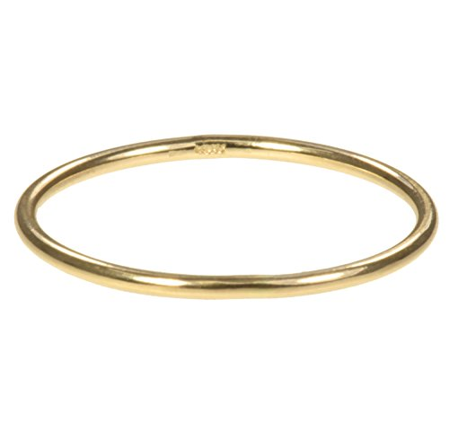 14K Solid Gold Stacking Rings 1mm Round Size 6 ()