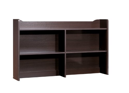 Pocono Bookcase Hutch (for 4606) 4609 from Nexera, Espresso Double Dresser Hutch