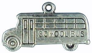 School Bus Pewter Charm