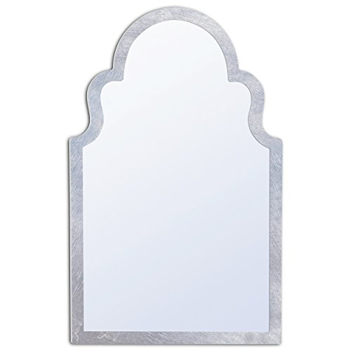 MIRROR TREND Large Vanity Mirror Special Silver Leaf Frame Handmade Clear - Silver Mirror Frame