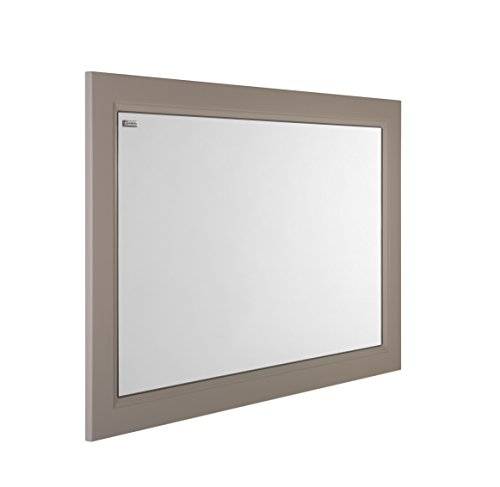 VALENZUELA Class 32 Inch Framed Bathroom Vanity Mirror, Wall Mount, Mink Matte Finish (VLE0080300) by DAX