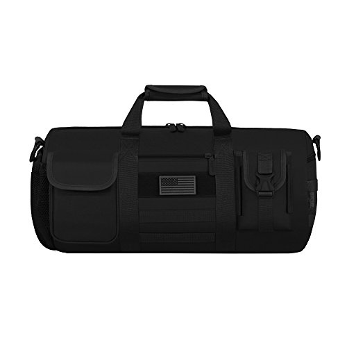 East West U.S.A RTD703M Tactical Digital Camo Heavy Duty Round Duffel Bag, Black (Tactical Camo Digital)