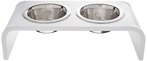 Trendy Pet Pint Bowl Pet Feeder, White, 4