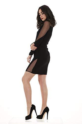 in donna Z99 ISACCO poli crepe Pinko Black abito 5tpqwR54B
