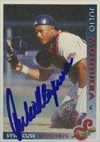 Julio Mosquera Syracuse Skychiefs - Blue Jays Affiliate 1998 Grandstand Autographed Card - Minor League Club. This item comes with a certificate of authenticity from Autograph-Sports. Autographed