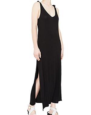 Mango Women's Side Slit Long Dress
