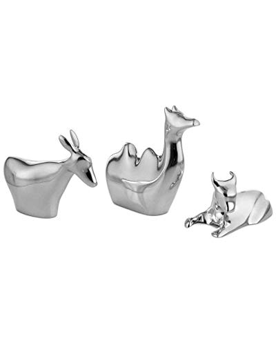 Figurines Pewter Animal - Nambè Metal Mini Nativity 3 Animals, Donkey, Camel, Bull