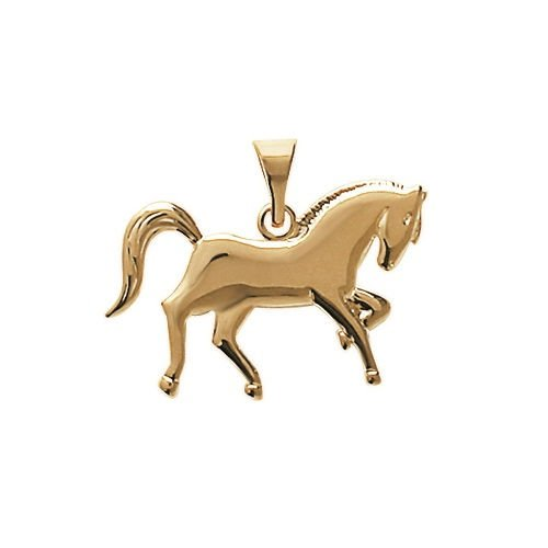 MARY JANE - Pendentif plaqué Or Femme/Homme - Plaqué or (Cheval)
