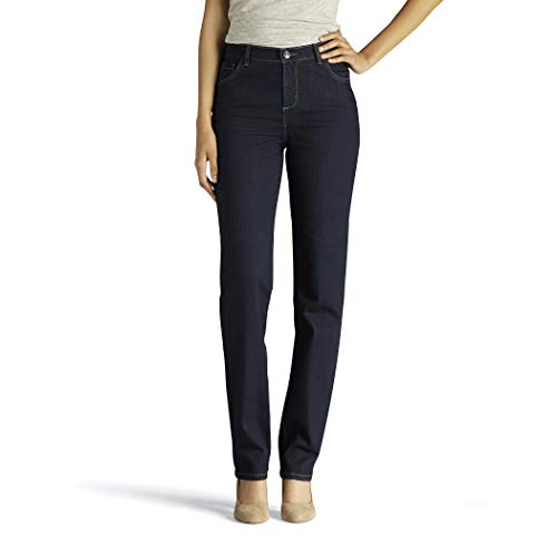 LEE Women's Tall Instantly Slims Classic Relaxed Fit Monroe Straight Leg Jean, Heritage, 18 - Womens Fit Relaxed Jeans