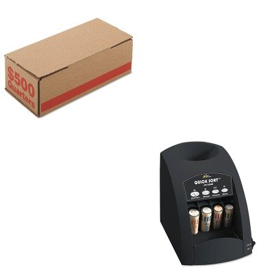 KITPMC61025RSICO1000 - Value Kit - Pm Company Corrugated Cardboard Coin Storage w/Denomination Printed On Side (PMC61025) and Royal Sovereign Fast Sort CO-1000 One-Row Coin Sorter (RSICO1000)