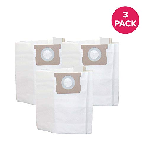 Crucial Vacuum Replacement Cleaner Bags Compatible with Shop Vac Type H Bags Part # SV-9066100, 5 to 8 Gallon and Models Shop Vac 5 Gallon, 6 Gallon, 8 Gallon Wet and Dry Vacs (3 Pack)
