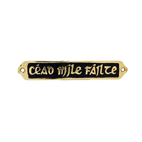 Cead Mile Failte Plaque - Carrolls Irish Gifts Small Solid Brass