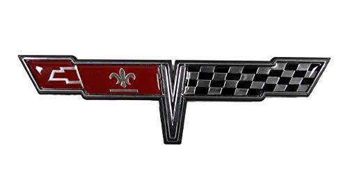 Keen Parts 1980 Corvette Gas Door Emblem Crossed Flags