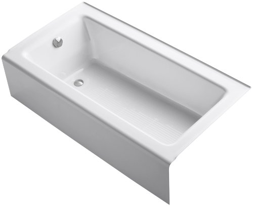 KOHLER K-875-0 Bellwether Bath with Integral Apron and Left-hand Drain, White