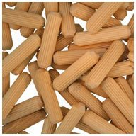 Multi-Groove WIDGETCO 5//16 x 1-1//4 Wood Dowel Pins