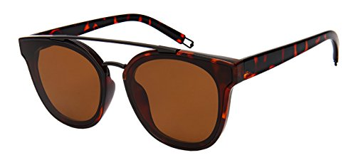 Bar Lens - Edge-I-Wear Brow Bar Sunglasses with Flat Solid Lens 3326-FLSD-4(DEMI+BLK.sd2)