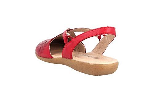 Rojo 33 Remonte Para Lisa De Mujer Piel Rosso Zapatos Cordones rxqRwnrv