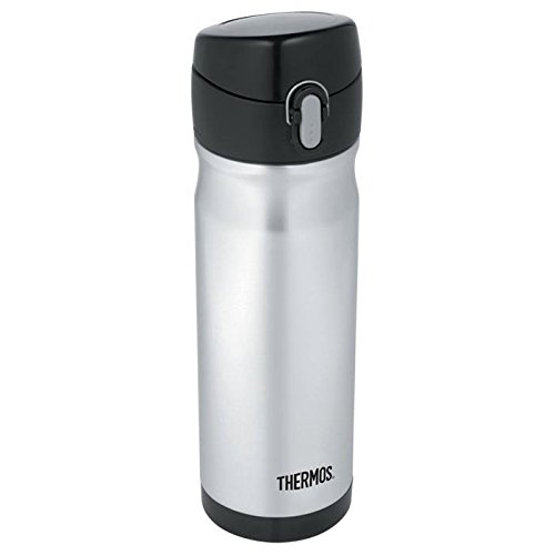 (Thermos 16 Ounce Stainless Steel Commuter Bottle, Silver)