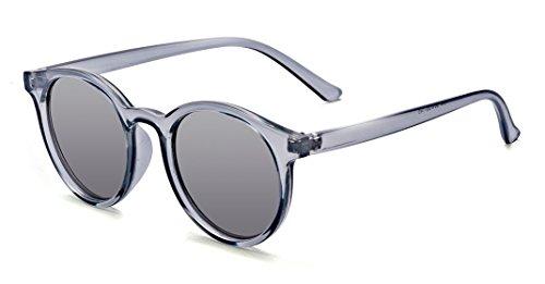Kelens Vintage Round Sunglasses Non-Polarized for Women Men 100% UV400 Protection Blue