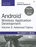 Android Wireless Application Development, Lauren Darcey and Shane Conder, 0321814975
