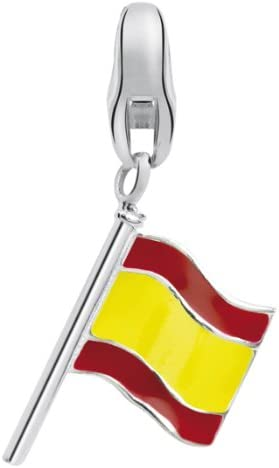 Dream Charms – Plata RHD Einhänger Bandera España barniz – dck568: Amazon.es: Joyería