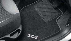 Genuine Peugeot 308 Luxury Velour Carpet Mats, Front & Rear. 9663C7 ...