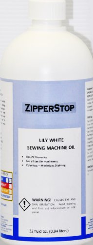 Sewing Machine Oil ~ Lily White ~ 32 fluid OZ.(0.94 liters) MADE IN - Sewing White Machines