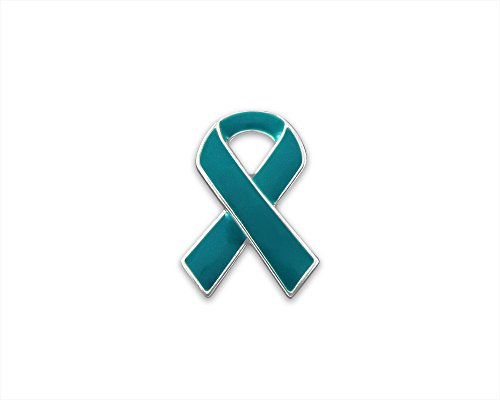 25 Pack Teal Ribbon Lapel Pins (Wholesale Pack - 25 Pins) ()