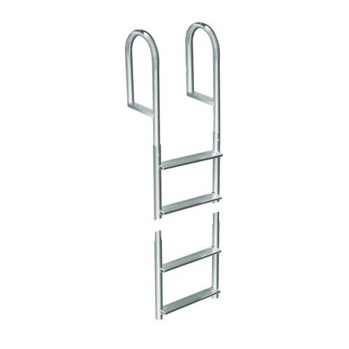 1 - Dock Edge Welded Aluminum Fixed 4 Step Ladder