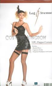 Sexy Flirty Flapper Costumes - Sexy Flapper Halloween Costume Medium/Large