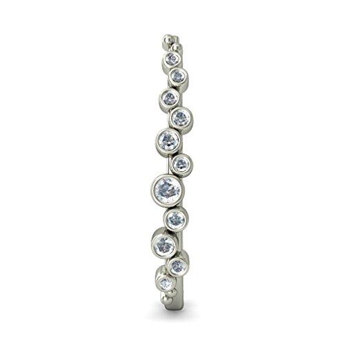 18K Or Blanc 0,46CT TW Round-cut-diamond (IJ | SI) Boucles d'oreilles créoles