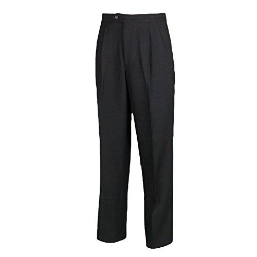 Adams USA Smitty Men's Pleated Referee Pants (Black, 32-Inch)