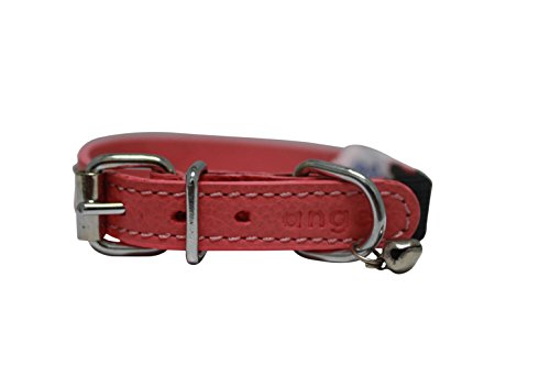 Image of Leather Elastic Break-Away Cat Collar (Alpine). 12