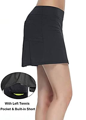 Women's Workout Active Skorts Sports Tennis Golf Skirt Built-in Shorts …