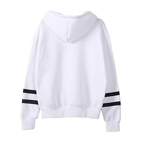 Shirt Beikoard Applique Blanc Pull Longues Pullover à à Broderie Femmes Hauts Manches Sweat Capuche Manteau Capuche à Sweat rBFxwrH7