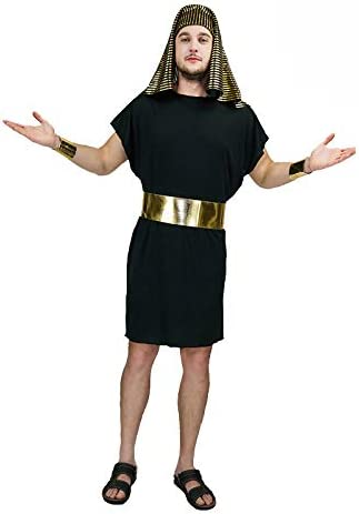 FDC Disfraz de faraón Egipcio Anubis Corto Negro para Hombre ...