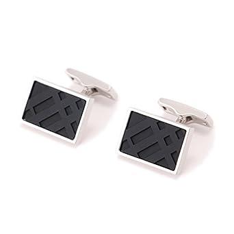 【クリックで詳細表示】<title>Amazon.co.jp: 角型カフス 1.8×1.3cm バーバリー y-000534 BURBERRY ブラック系 メンズ [並行輸入品]: 服&ファッション小物</title>