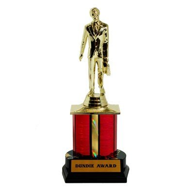 The Office Official Dundie Award with Interchangeable Placards