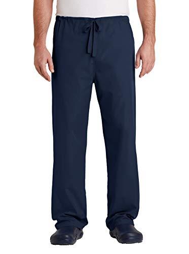 A&E Designs Upscale Medical Uniform Reversible Nursing Scrub Pant - Navy, XL