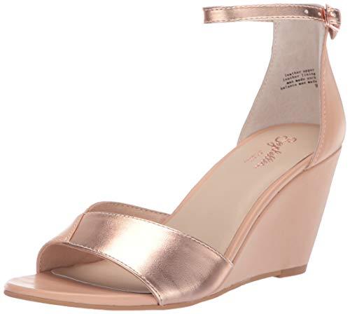 (Seychelles Women's Dual Purpose Wedge Sandal, Nude/Rose Gold, 8 M US)