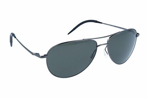 NEW Oliver Peoples Benedict Aviator Sunglasses Black Chrome Frame VFX - Benedict Oliver Peoples Polarized