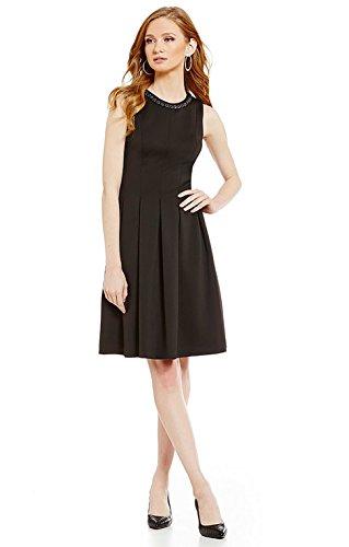 karl-lagerfeld-paris-scuba-black-fit-flare-dress-10