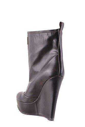 DSQUARED2 Damen MCBI107223O Schwarz Leder Stiefeletten