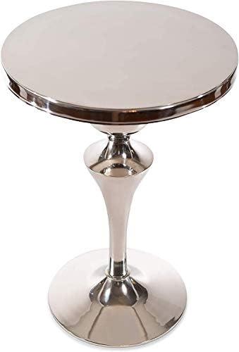 Decorative Aluminum Pedestal Accent Table DH8033